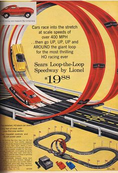 We never got to have one of these - so I created a matchbox track from odd scraps around the house.  Kept my brother and me occupied for hours!