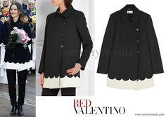 Princess Sofia wore RED VALENTINO Two-Tone Scalloped Tech Jersey Coat www.newmyroyals.com
