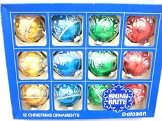 Vintage Shiny Brite Flocked Poloron Ornaments with by CeeGeesAttic, $20.00