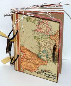 vintage inspired travel journal old world kingdom of spain france england