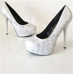 A Girl's Best Friend - hand painted wedding shoes by Hourglass Footwear. They even do custom bridal heels and flats to match!