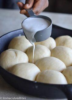 Pani popo Hawaiian bread baked in coconut milk