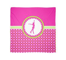 Scarf -Figure Skating - Pink and Green Polka-Dots by gollygirls