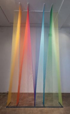 Gabriel Dawe has more patience than you will ever have. gabriel dawe + mixed media and installation artist Plateau Tv, Church Stage Design, Artistic Installation, String Installation, Art Installations, Church Banners, Thread Art, String Art, Painting On Wood