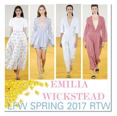 """LFW '16: Emilia Wickstead SS RTW 17..."" by nfabjoy ❤ liked on Polyvore featuring Emilia Wickstead, LFW, runway, fashionWeek and londonfashionweek"