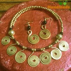Dokra Tribal Necklace Set Brass Chakras