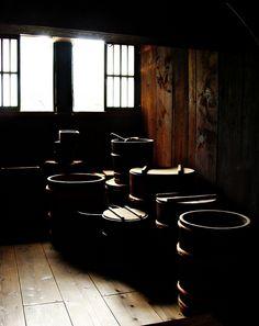 Storeroom in a farmhouse, Shirakawa village, Japan