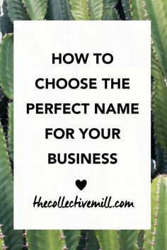 How to Choose the Perfect Name for Your Business: You're starting a new business and need to figure out the name. The problem is you don't know where to start because it's such a big decision. The name of your company might be around for the next ten, twe
