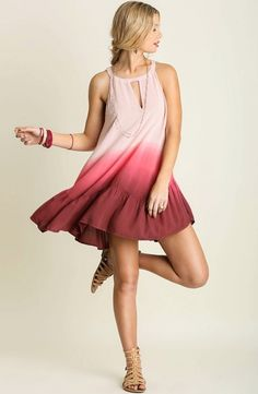 Dip Dye, Honeymoon Fund, Dressing, Red Accessories, Keyhole Dress, Spring Trends, Southern Belle, Boutique, Summer Outfits