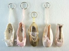 Leo's & Minishooz metallic gold leather #ballroom slipper with heel & buckle strap & pink & white satin top drawstring closure #ballet #pointe #dance shoe five (5) piece #miniature #mini #keychain #keyring lot/set, excellent used condition http://www.ebay.com/itm/LEOS-GOLD-BALLROOM-PINK-BALLET-POINTE-DANCE-SHOES-5-MINI-KEY-CHAIN-RING-LOT-SET-/140962024693?pt=US_Women_s_Accessories&hash=item20d1fdccf5