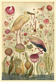 Lindsey Carr (UK/Scotland) - Garden  [Lindsey Carr on ARTchipel   Tumblr Monday with darksilenceinsuburbia]