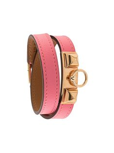 Hermès Pre-Owned logos charm bracelet - PINK