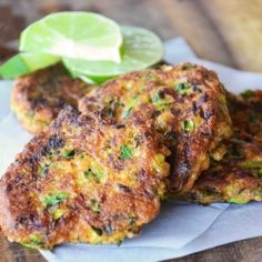 Zucchini Parmesan Fritters. A lovely cheesy vegetable dish @Kathy Chan Andreoli is so beautiful :) don't forget to live it everyday ~ Angie