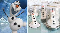 Bricolage d'Olaf dans une boule à neige