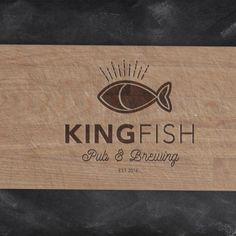 Concept art for fictitious company Kingfish Pub & Eatery created by Haley Frost. http://haleyfrostcreative.com