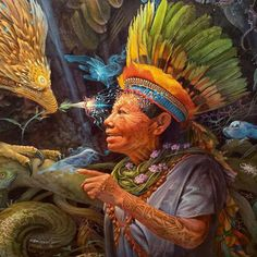 Six Explanatory Propositions: from The Eagle's Gift, by Carlos Castaneda Art Zen, Arte Indie, Art Visionnaire, Carlos Castaneda, Psychadelic Art, American Spirit, Indigenous Art, Visionary Art, Sacred Art
