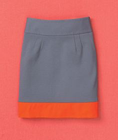 After: Not-So-Mini Skirt    To extend the length (and therefore the life) of a short skirt, sew a 3-inch-wide strip of fabric to the hem. Go for contrast (in color or texture) so that the extension looks intentional,