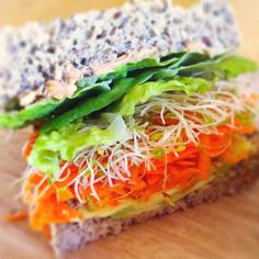 Peanut butter avocado crunch sandwich