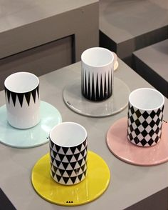 I can't get enough of these cups and saucers from ferm living.