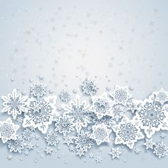 Paper snowflakes vector backgrounds 01