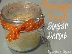 Grits & Giggles: {Tutorial} Orange Peel Sugar Scrub