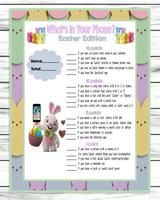 Whats In Your Phone Easter Party Game, Easter Activity Printable, Inst – Enjoymyprintables Easter Activities, Family Activities, Easter Party Games, Virtual Games, Phone Games, Activity Games, More Fun, Party Supplies, Printables