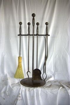 Hand Forged Fireplace Toolset 17  www.norcalovenworks.com