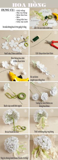 The type of paper flowers beautiful but easy to apply 3