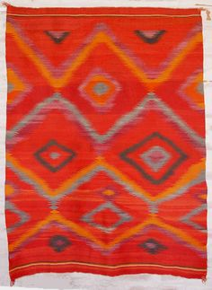 1890 Navajo Rug- I adore Navajo textiles and they always remind me of visiting family in NM. But, if I buy one I want to go directly to the source. No fakes, no cheating weavers out of their fair share!