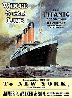 Rms Titanic, Titanic History, Advertising Signs, Vintage Advertisements, Belfast, Southampton, Liverpool, Home Decor Sculptures, Wall Sculptures