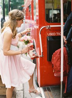 Don't be late from the wedding bus