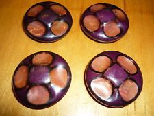 "4  VINTAGE COAT CELLULOID COAT  BUTTONS- TIGHT TOP-METAL BACK -1""3/4 # 2227"