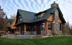 Lake Country Builders - traditional - exterior - minneapolis - by Lake Country Builders Log Homes Exterior, Mountain Home Exterior, Rustic Houses Exterior, Cottage Exterior, Dream House Exterior, Exterior House Colors, Exterior Paint, Exterior Design, House Siding