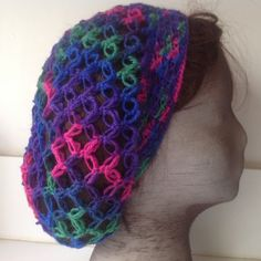 Hairnet, Snood 'rustique', variegated by Mywaycrochet on Etsy