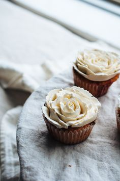 Rhubarb and Orange Cupcakes - Hint of Vanilla food photography, food styling, learn food photography