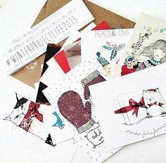 Las postales solidarias del WinterProjectLife son un proyecto de Maow Design en colaboración con diferentes artistas españoles.