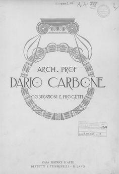 Costruzioni e progetti   Carbone, Dario