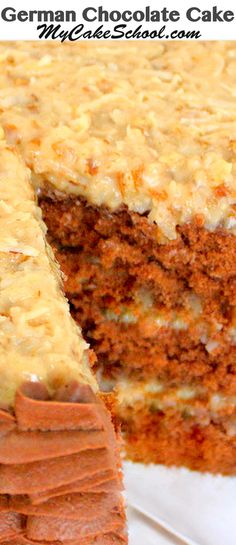 The BEST German Chocolate Cake Recipe from scratch! - Cakes, Cakes, and More Cakes - The BEST German Chocolate Cake Recipe from scratch! - Cakes, Cakes, and More Cakes - Homemade German Chocolate Cake, Chocolate Recipes, Chocolate Cakes, Cake Frosting Recipe, Frosting Recipes, Cupcakes, Cupcake Cakes, Coconut Dessert, Coconut Pecan