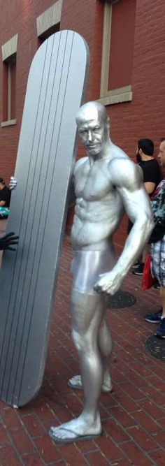Best Comic Book Cosplay at SDCC 2014 - Wow. I hope he didn't use the stuff that gave the Tin Man from The Wizard of Oz cancer...