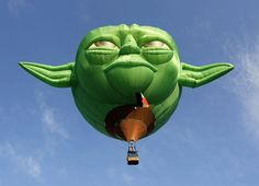 Yoda special-shape hot-air balloon built by Cameron Balloons in Bristol, UK. Picture credit: EPA