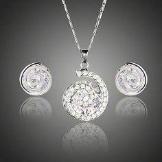 Snail Shaped Crystal Stud Earrings + Necklace Set  #rings #earrings #jewelry #necklace #dresses #womensfashion #fashion #khaista #women