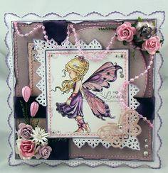 SWG Original Designs: Silver Fairy in Violet & Rose