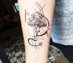 Kandinsky Tree tattoo by Eva Krbdk