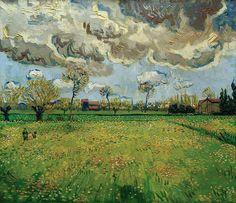 Пейзаж с грозовыми облаками. Винсент Ван Гог