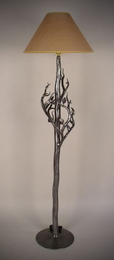 Neat lamp by John Perilloux artist blacksmith