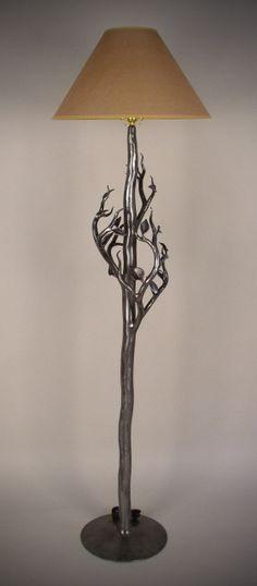 Neat lamp by John Perilloux artist blacksmith