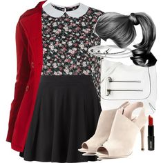 """Lydia Inspired Outfit with Requested Coat"" by veterization on Polyvore"