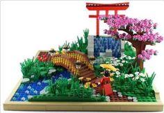 LEGO Japanese garden.