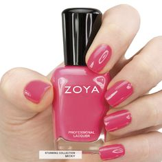Here's your first look at Zoya #NailPolish in Micky - a full-coverage, amazing pink coral cream. #zoyastunning #summer #pink #coral