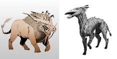 Creature Sketches, Saeed Jalabi on ArtStation at https://www.artstation.com/artwork/y4vnO